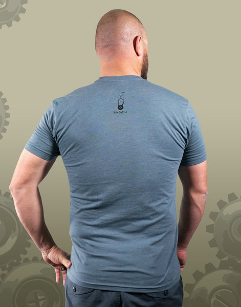 Tree Cog Men's Fitted Crew Neck