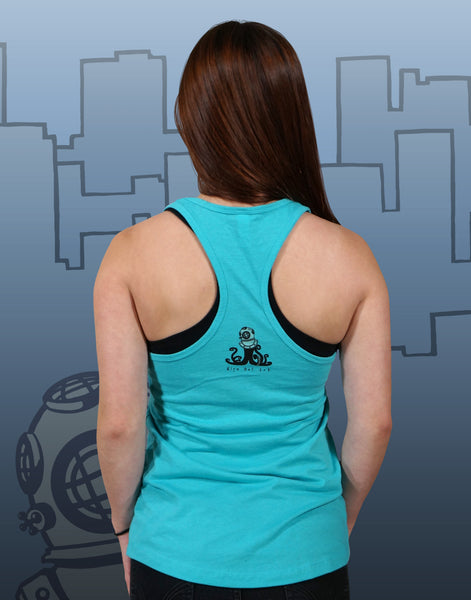 Walking Your Octopus Junior Women's Racerback Tank