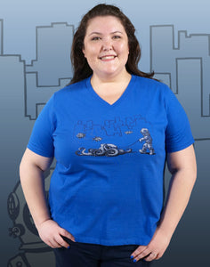 Walking Your Octopus Plus Size Women's V-Neck