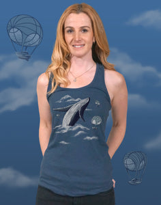 Whale Watching Junior Women's Racerback Tank