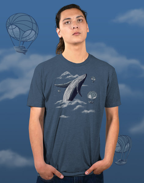 Whale Watching Men's Fitted Crew Neck