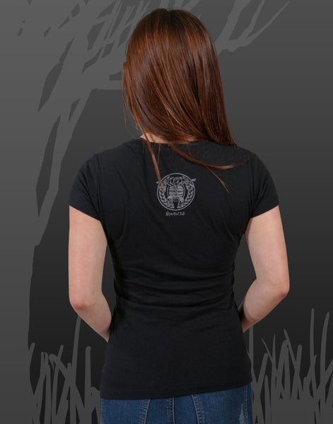 Zombie Run Junior Women's Fitted V-Neck