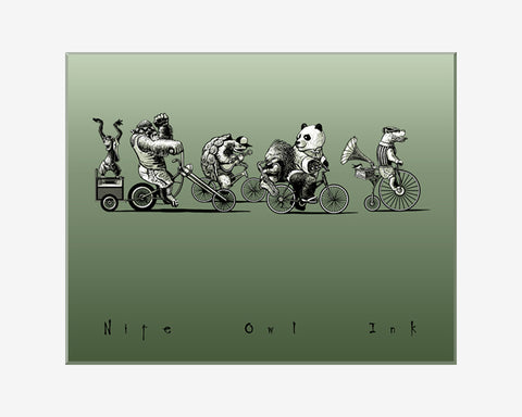 Bike Party Art Print