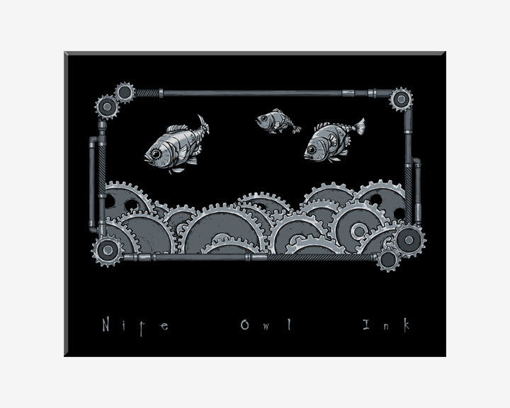 Cog Fish Art Print