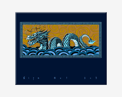 Chinese Water Dragon Art Print