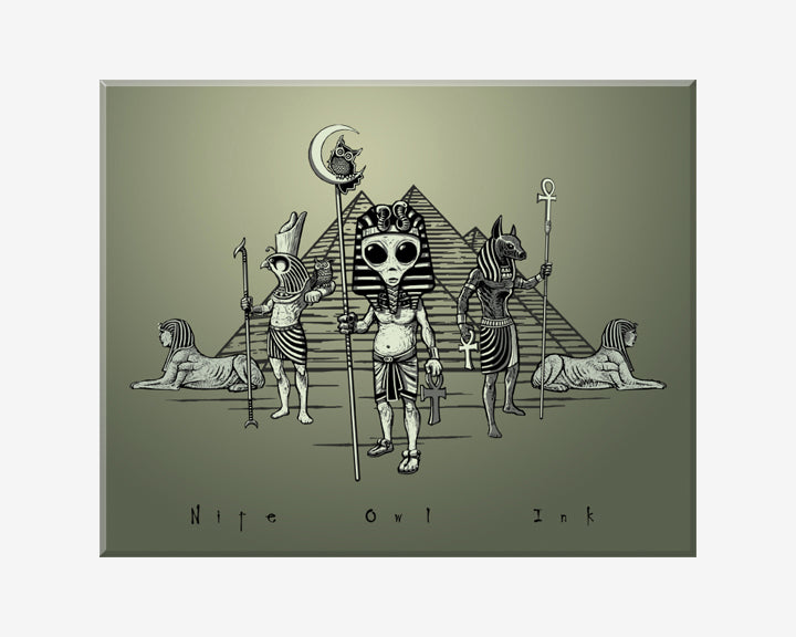 Egyptian Alien Art Print