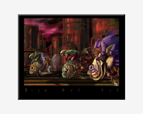 Fish Race Art Print