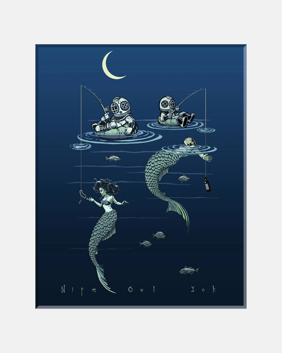 Mermaid Fishing Art Print
