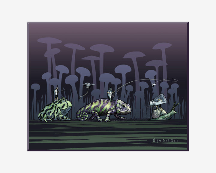 Slow Race Art Print