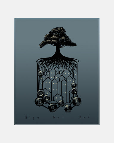 Tree Cog Art Print