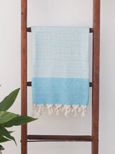 Load image into Gallery viewer, Turkish Towel - Hideaway Towel Sky Blue
