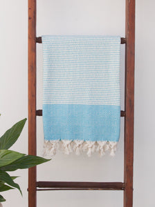 Turkish Towel - Hideaway Towel Sky Blue