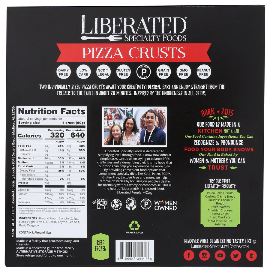 Paleo Pizza Crust, (2 count)