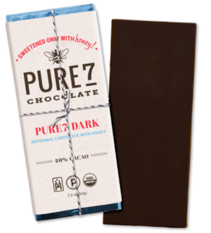 Pure 7 Chocolate Bar 80% (2oz/56g)