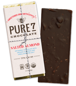 Pure 7 Chocolate Bar, Salted Almond (2oz/56g)