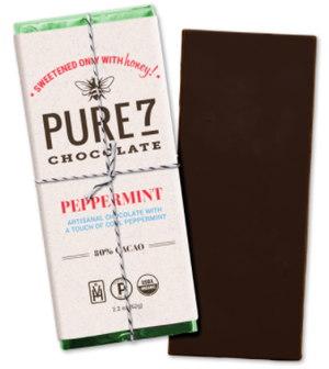 Pure 7 Chocolate Bar, Peppermint (2.2oz/62g)