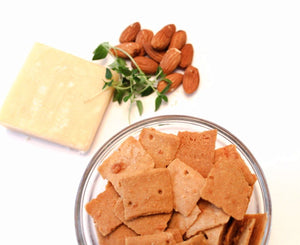 These crunchy, cheesy crackers create a sensational experience with bona fide ingredients. Low Carb, High Protein snack for the mindful eater. Net Carb Percent = 7%
