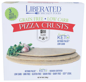 "Delicious 8"" pizza crusts, pre-cooked and ready for your toppings!"