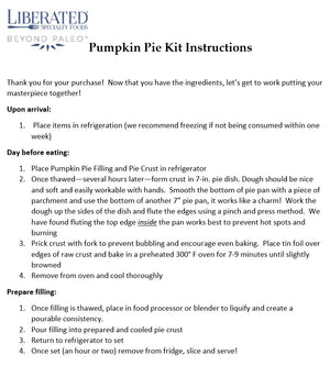 Pumpkin Pie Kit