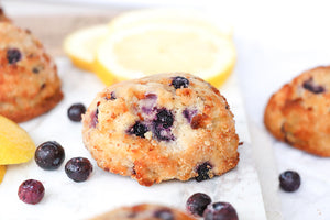 Lemon Blueberry Muffins Tops