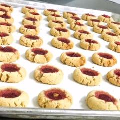 Liberated's version of the classic hamantaschen. These cookies are egg free with a hint of almond.