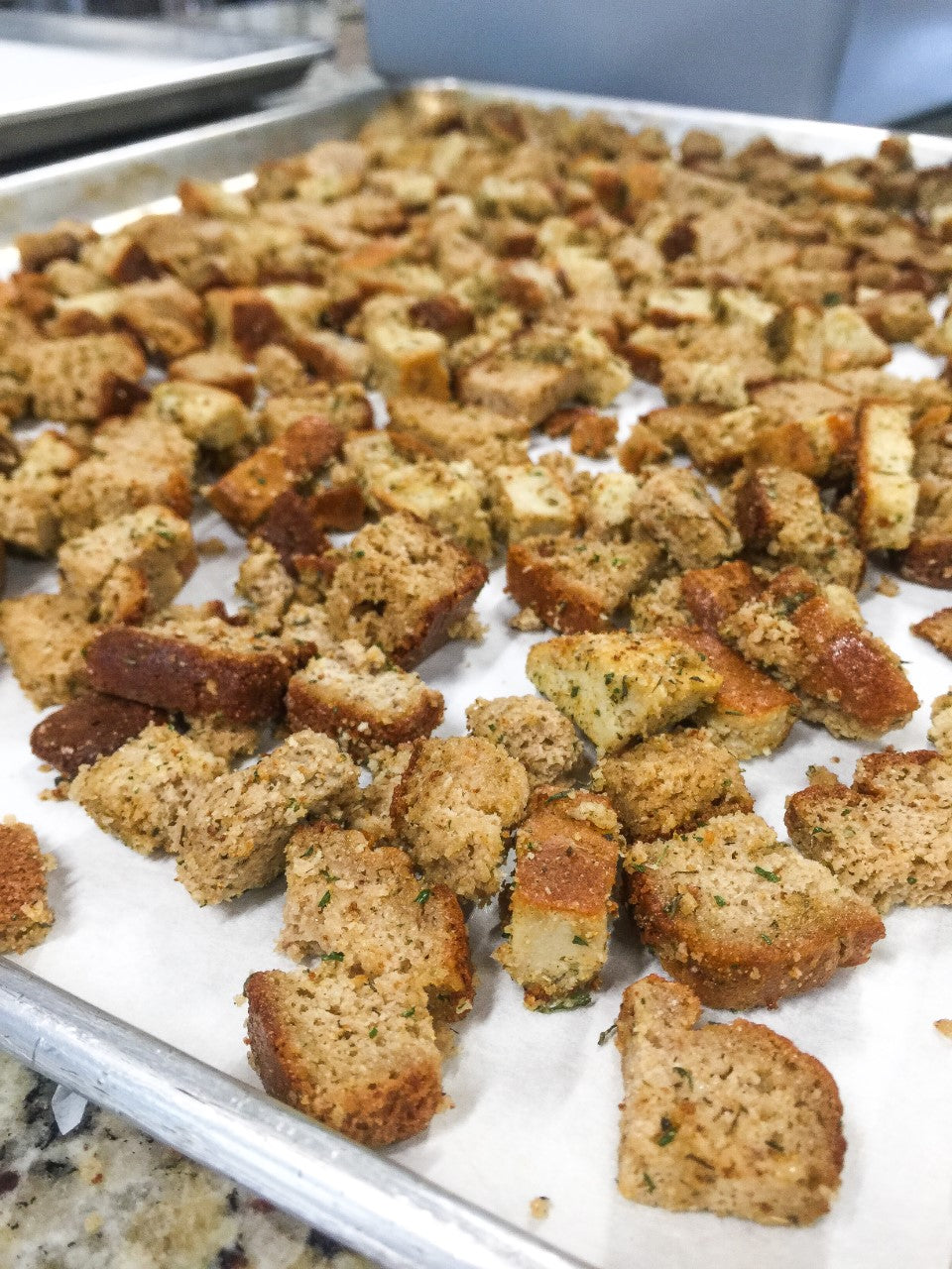 Enjoy the crunch of a crouton with your salads again! SCD and Paleo compliant. Just sprinkle on your favorite salad and enjoy.  Each bag contains 226g.