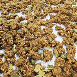 If you've had a hankering for good ole' fashioned crunchy granola, look no further. We use nature's sweetest seeds, nuts and honey to make this hearty snack. Shelf stable and portable make it a perfect choice for the gym bag, glove box, lunchbox or pantry.