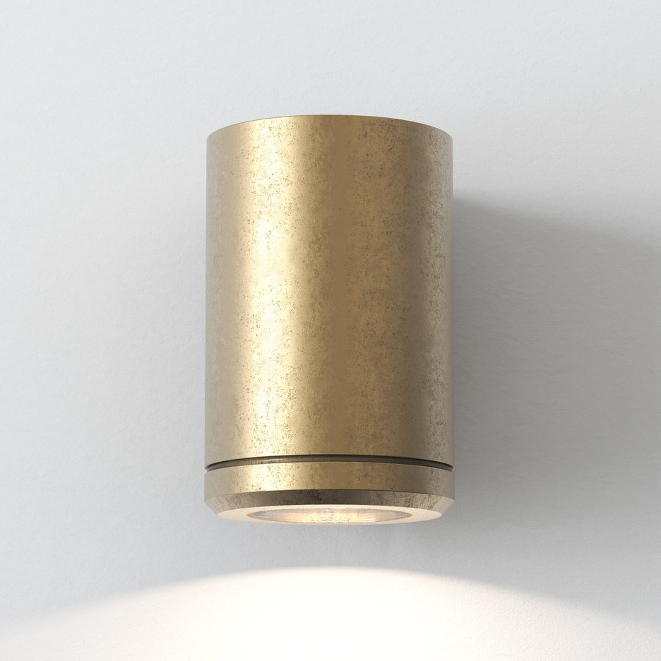 Brass Wall Mount Light - Down Only