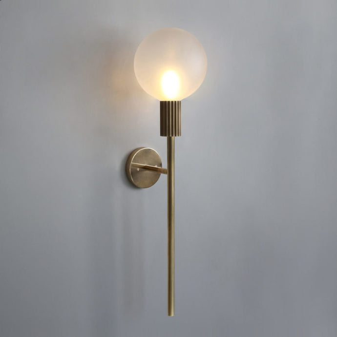 Brass Stem Wall Light