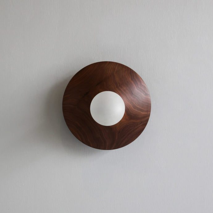 Wooden Disc Wall Light