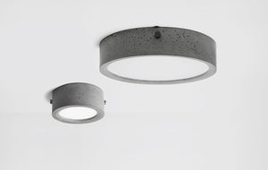Concrete Ceiling Light Oyster