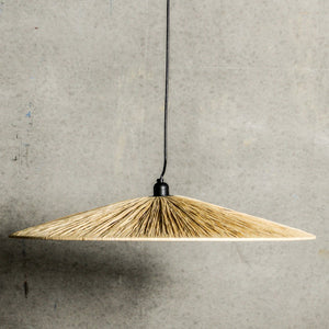 Large Raffia Pendant Light