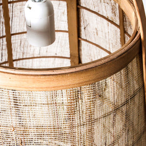 Japanese Cane Pendant Light - Small