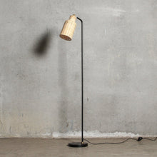 Slim Rattan Floor Lamp