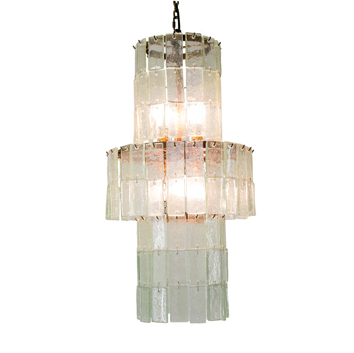 Handmade Glass Strip Chandelier