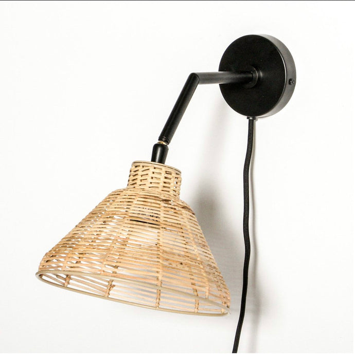 Wicker Wall Light