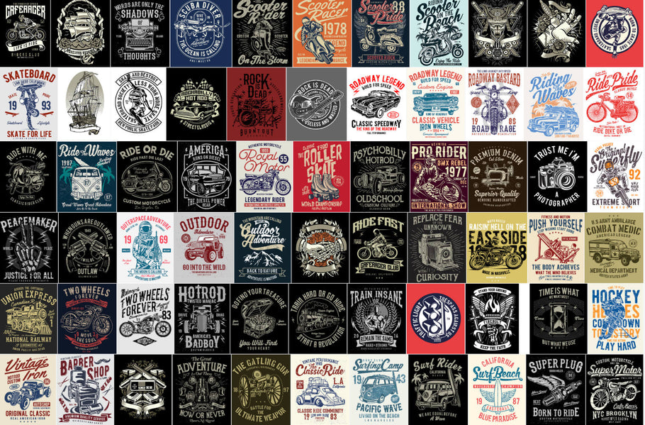6k vintage t shirt bundle-cheap t shirts Design wholesale With Mockup & Premium Font