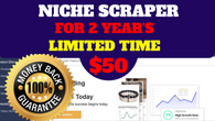 98% Off Niche Scraper Coupon | 100% Working Discount offer |for 2 year only $50