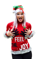 Feel The Joy Sweater | Womens Ugly Christmas Sweater