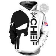Chef England Skull 3D Hoodie