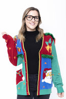 Ladies Ugly Christmas Cardigan