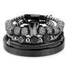Crown Beaded Bracelet Set - 4pcs