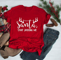 New Santa Stop Judging Me Funny Merry Christmas TShirt Cheap Price 2019