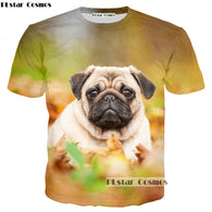 best 3D pug shirt for Men's/women with Free Shipping