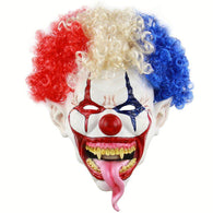 Clown Mask Creepy Evil Scary Halloween Party Mask Supplies