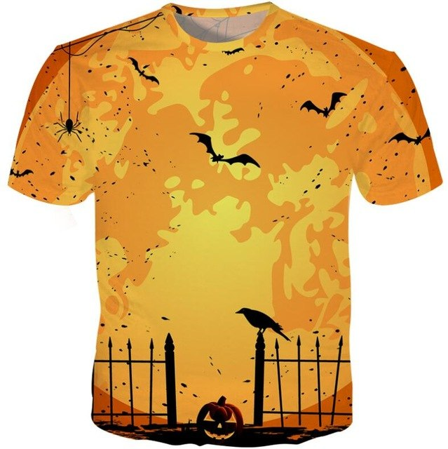 Halloween 3D Bat Owl T-shirt cheap price