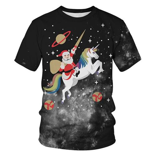 Christmas Funny Santa Claus 3D Women & Men T-Shirt 2019 Cheap Price 2019