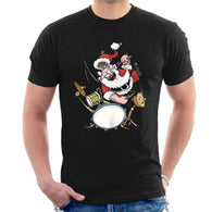 funny SANTA CLAUS DRUMMER ROCK STAR T-SHIRT cheap price