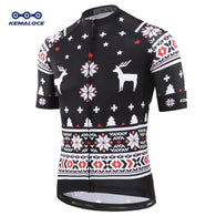 Bets  Black Christmas Cycling Jersey Short sleeves 2019 Cheap Price