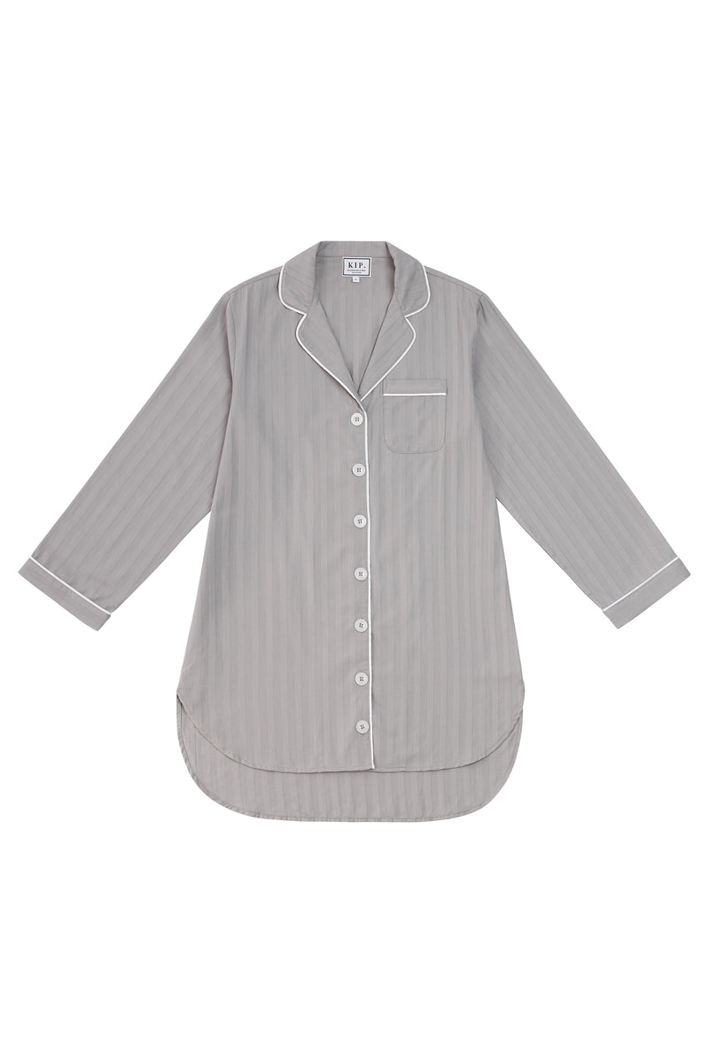 Premium Cotton Nightshirt in Dove Grey